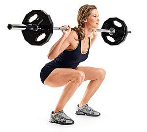 La culotte de cheval peut être combattue avec des exercices en salle de squat