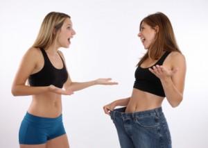 Perdez du poids avec un groupe d'amies sur un forum