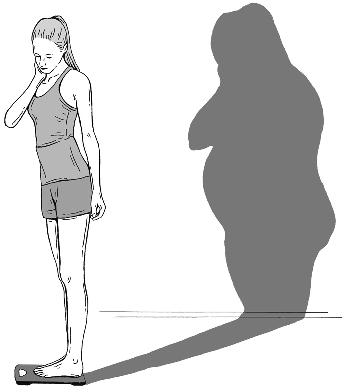 L'image faussée de soi renvoyée peut conditionner l'anorexie