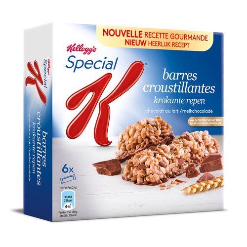 Des barres de céréales au chocolat Special K de Kellogg's